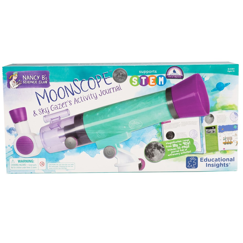 EI-5351 - Nancy B Science Clue Moonscope & Sky Gazers Activity Journal in Activity Books & Kits