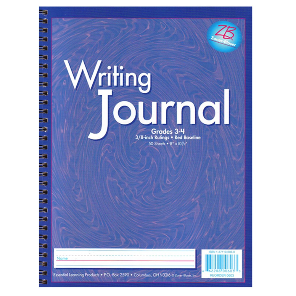 ELP0603 - My Writing Journals Purple Gr 3-4 in Writing Skills