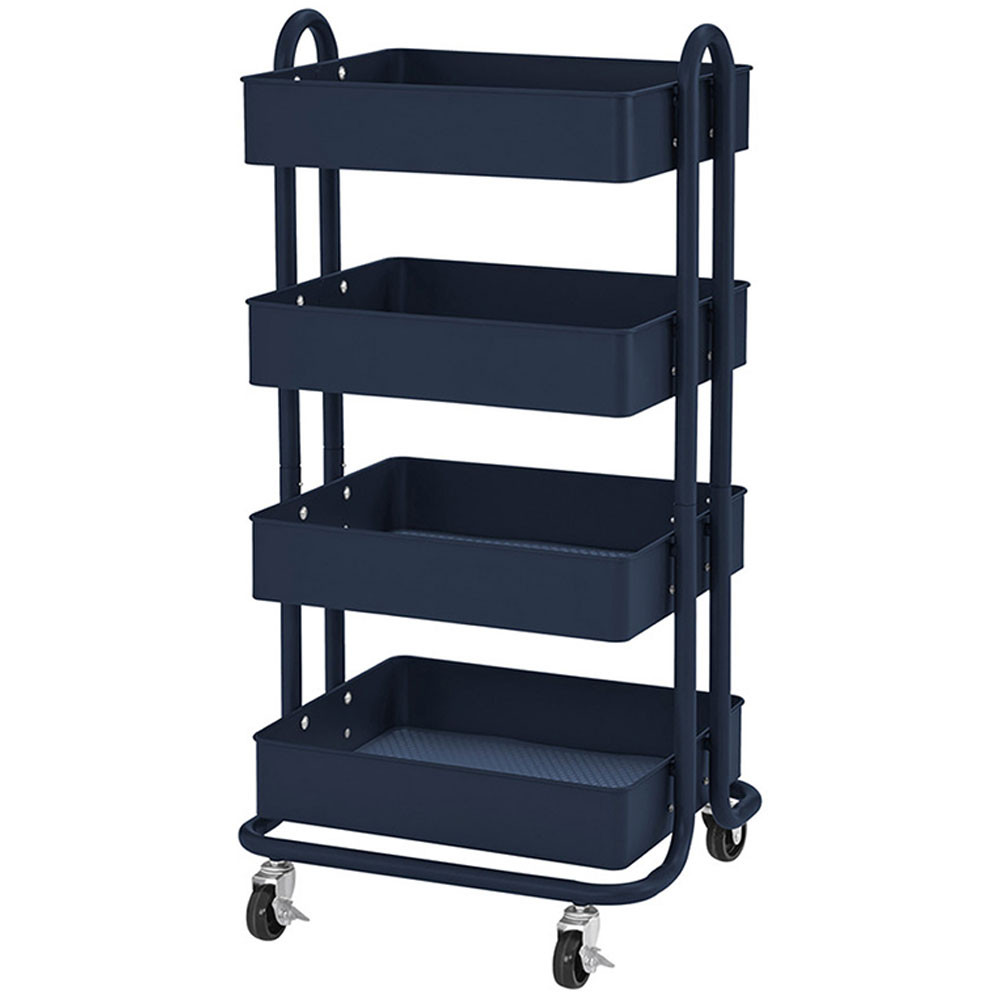 ELR20702NV - 4-Tier Utility Rolling Cart Navy in Storage