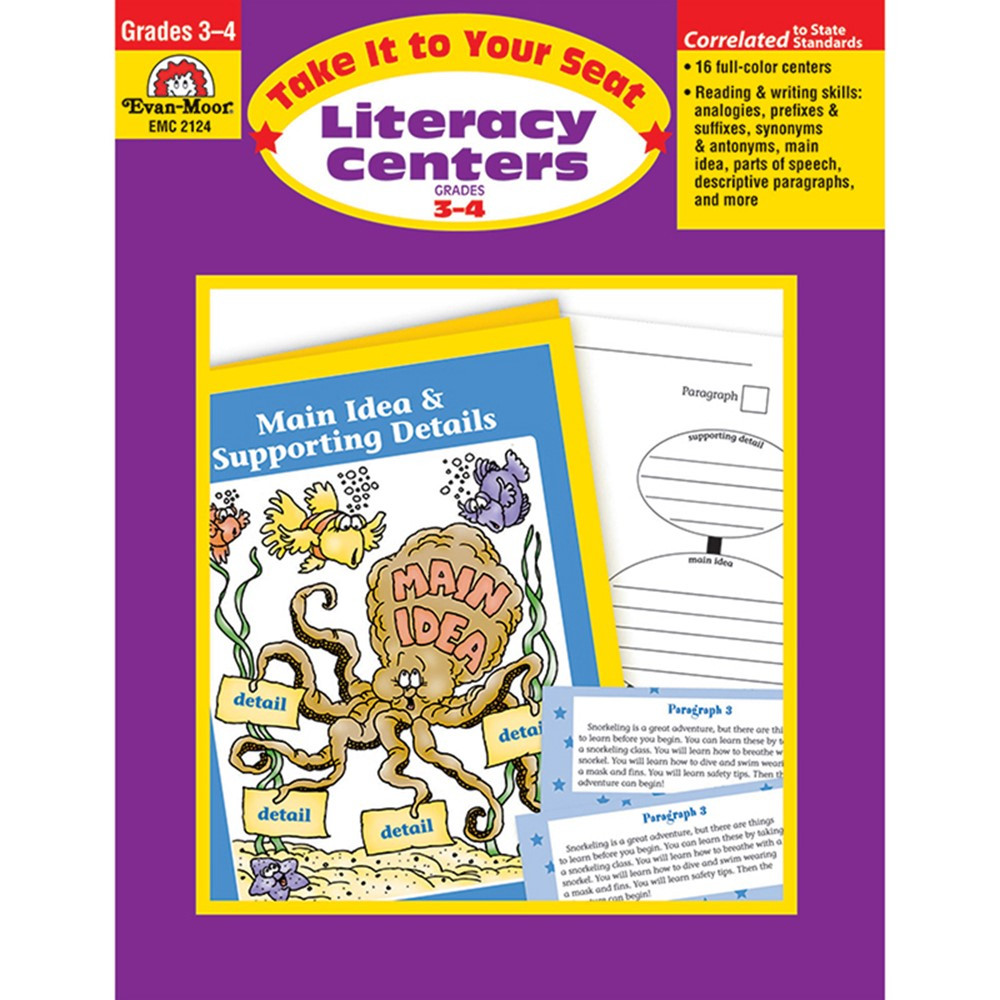 EMC2124 - Take It To Your Seat Literacy Centers Gr 3-4 in Activities