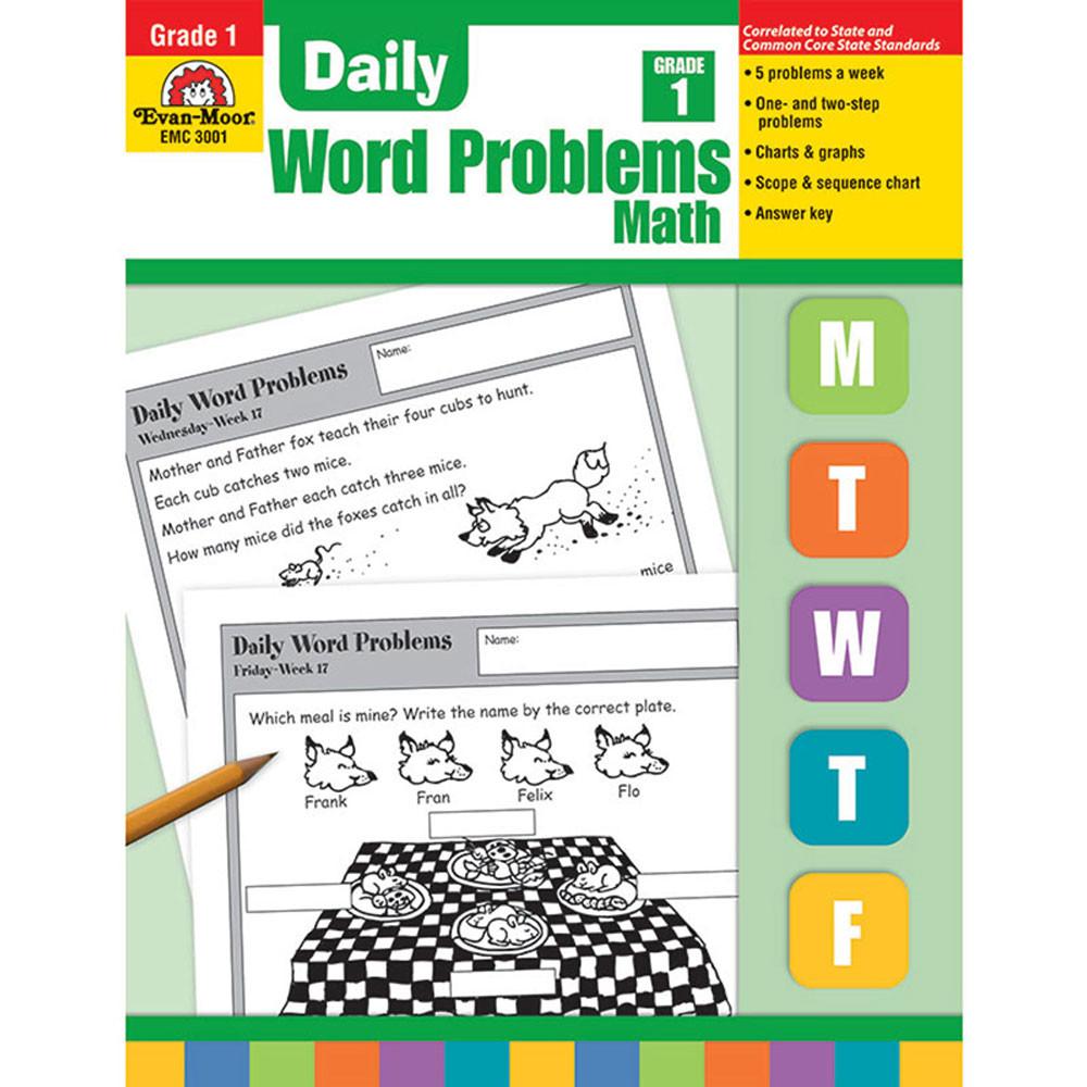 EMC3001 - Daily Word Problems Gr 1 in Word Skills
