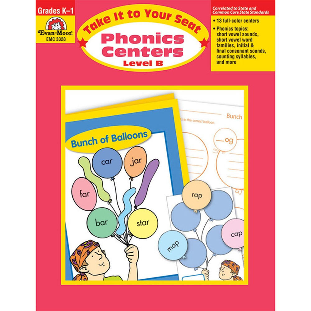 EMC3328 - Take It To Your Seat Phonics Centers Level B in Phonics
