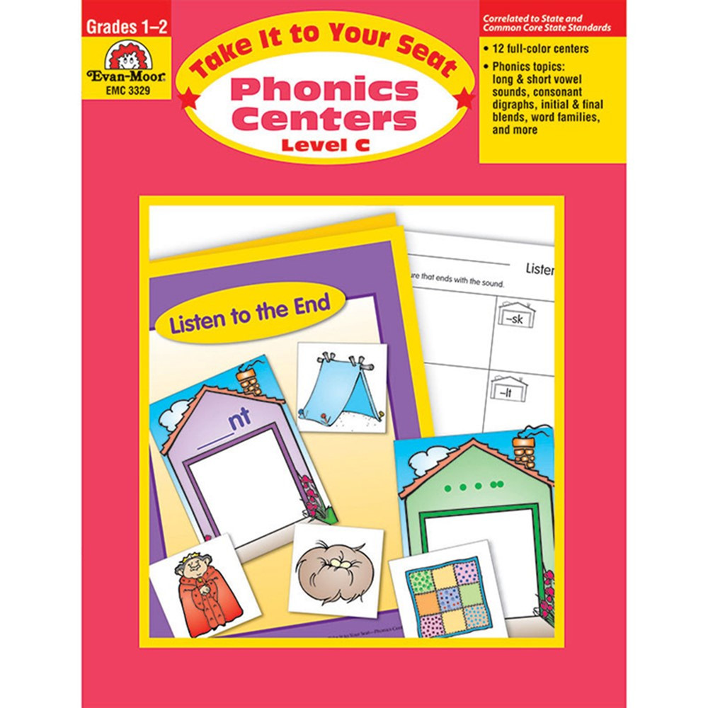 EMC3329 - Take It To Your Seat Phonics Centers Level C in Phonics