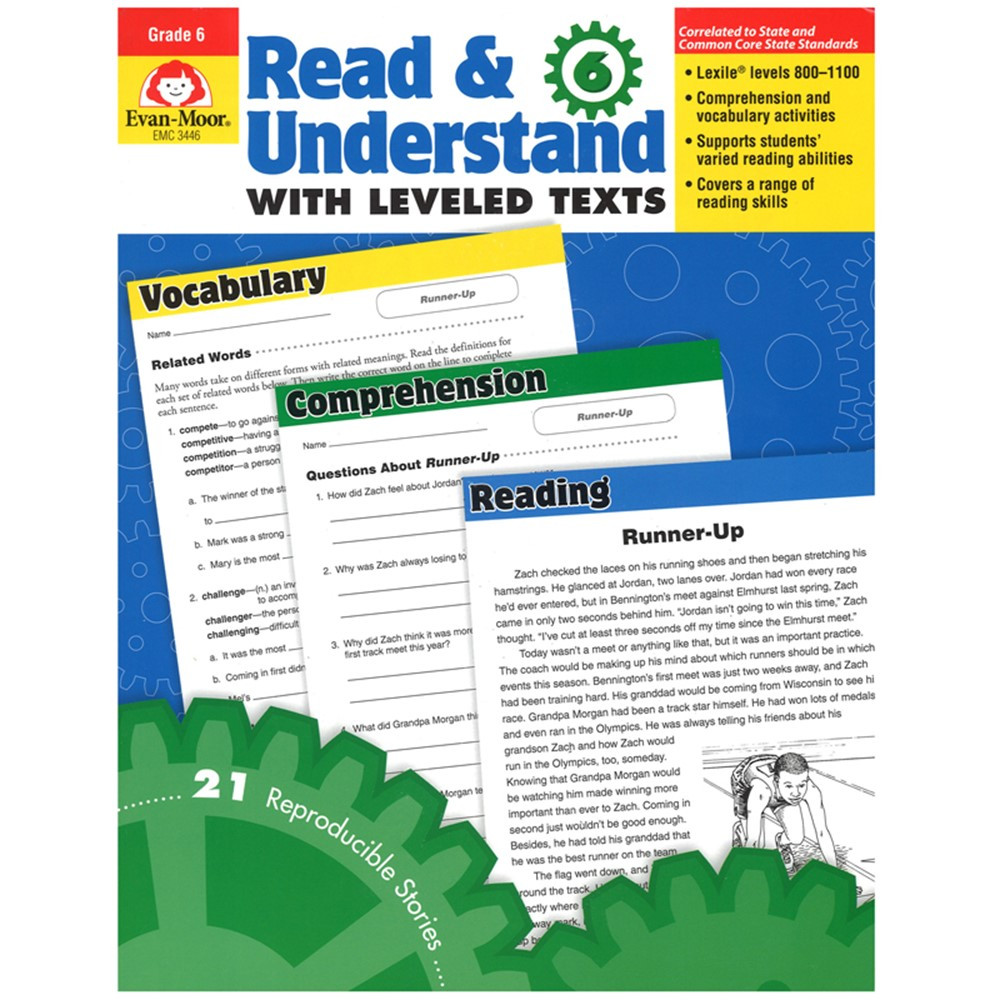 EMC3446 - Read And Understand With Leveled Texts Gr 6+ in Reading Skills