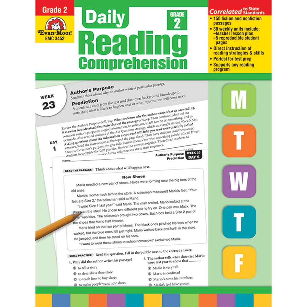 EMC3452 - Daily Reading Comprehension Gr 2 in Comprehension