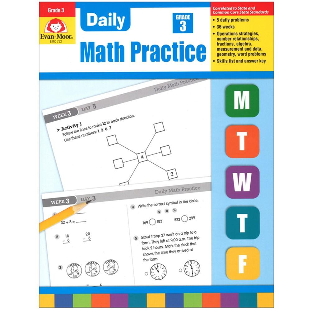 EMC752 - Daily Math Practice Gr 3 in Activity Books