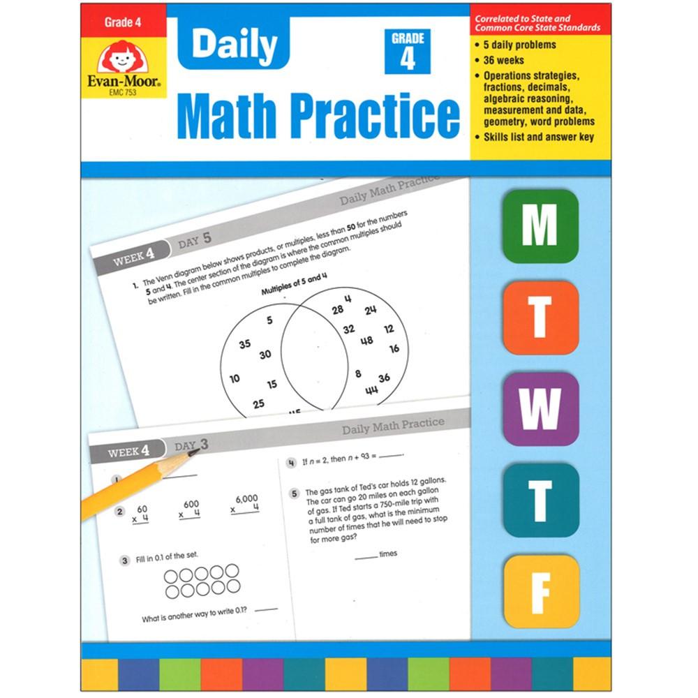 EMC753 - Daily Math Practice Gr 4 in Activity Books