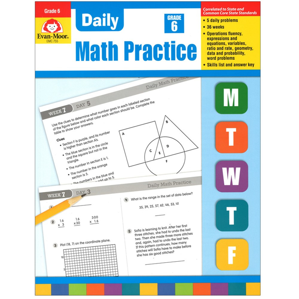 EMC755 - Daily Math Practice Gr 6 in Activity Books