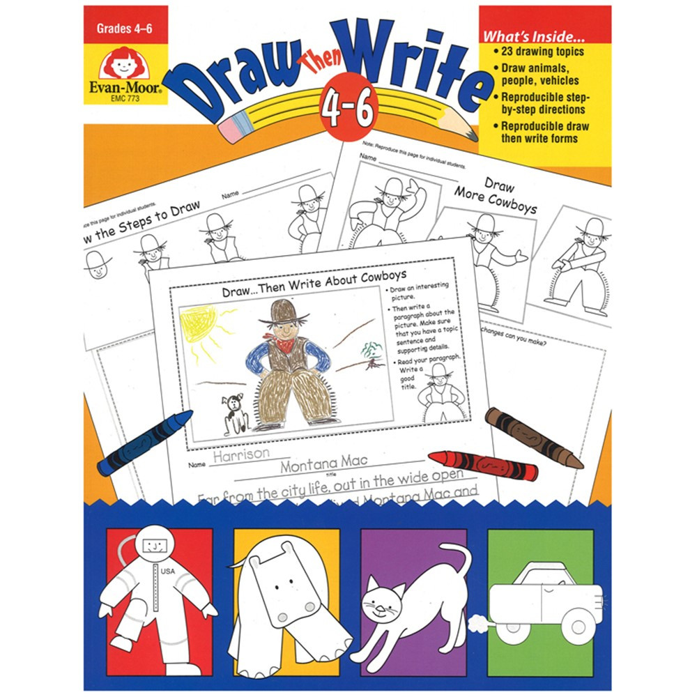 EMC773 - Draw Then Write Gr 4-6 in Art Activity Books