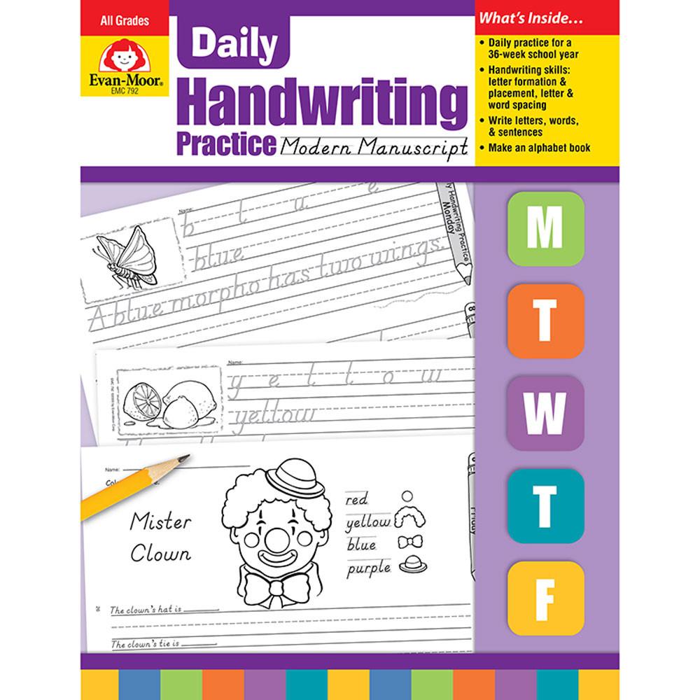 EMC792 - Daily Handwriting Mod. Manuscript in Handwriting Skills
