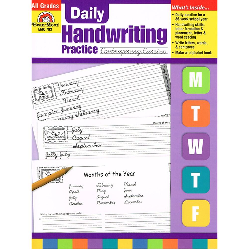 EMC793 - Daily Handwriting Contemp. Cursive in Handwriting Skills