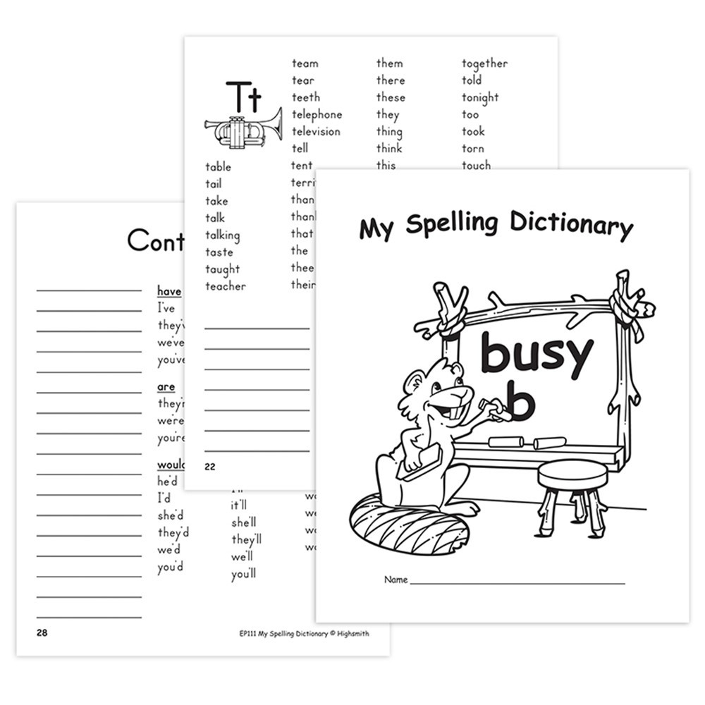EP-111 - My Spelling Dictionary in Reference Books