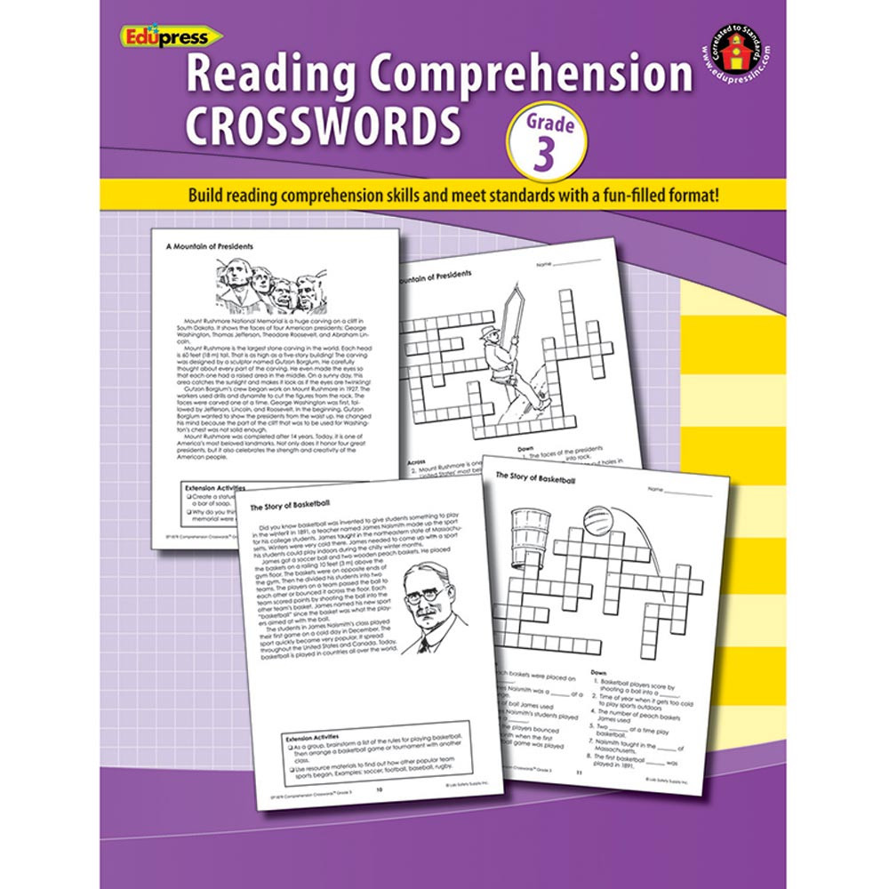 EP-187R - Comprehension Crosswords Book Gr 3 in Comprehension