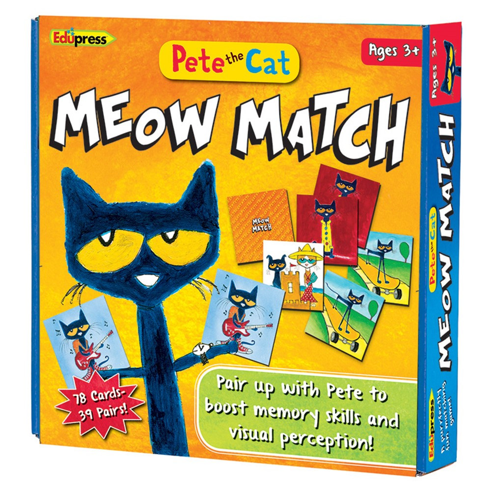 EP-2075 - Pete The Cat Meow Match Game in Card Games