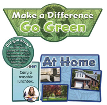 EP-2263 - Go Green Bulletin Board Set in Science