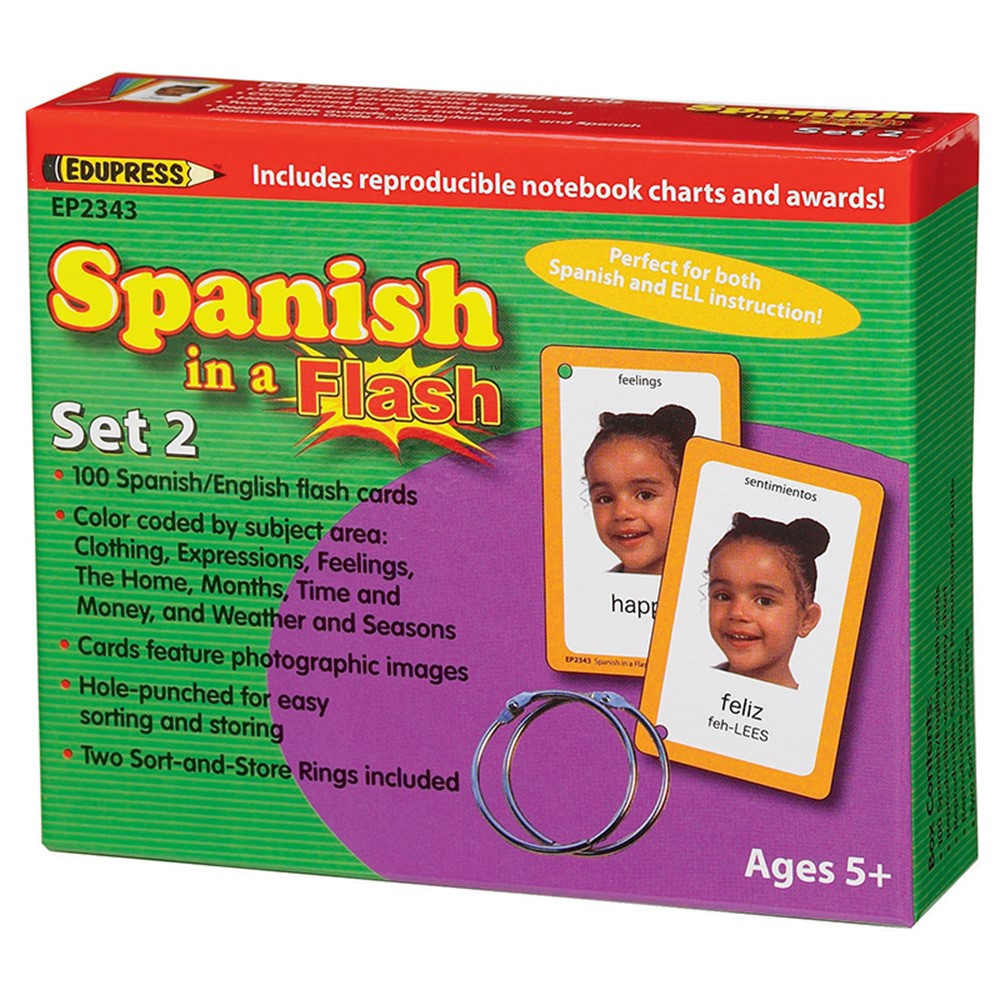 EP-2343 - Spanish In A Flash Set 2 in Flash Cards