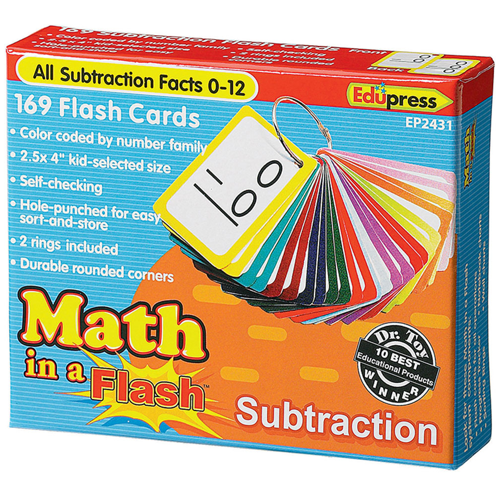 EP-2431 - Math In A Flash Subtraction Flash Cards in Flash Cards