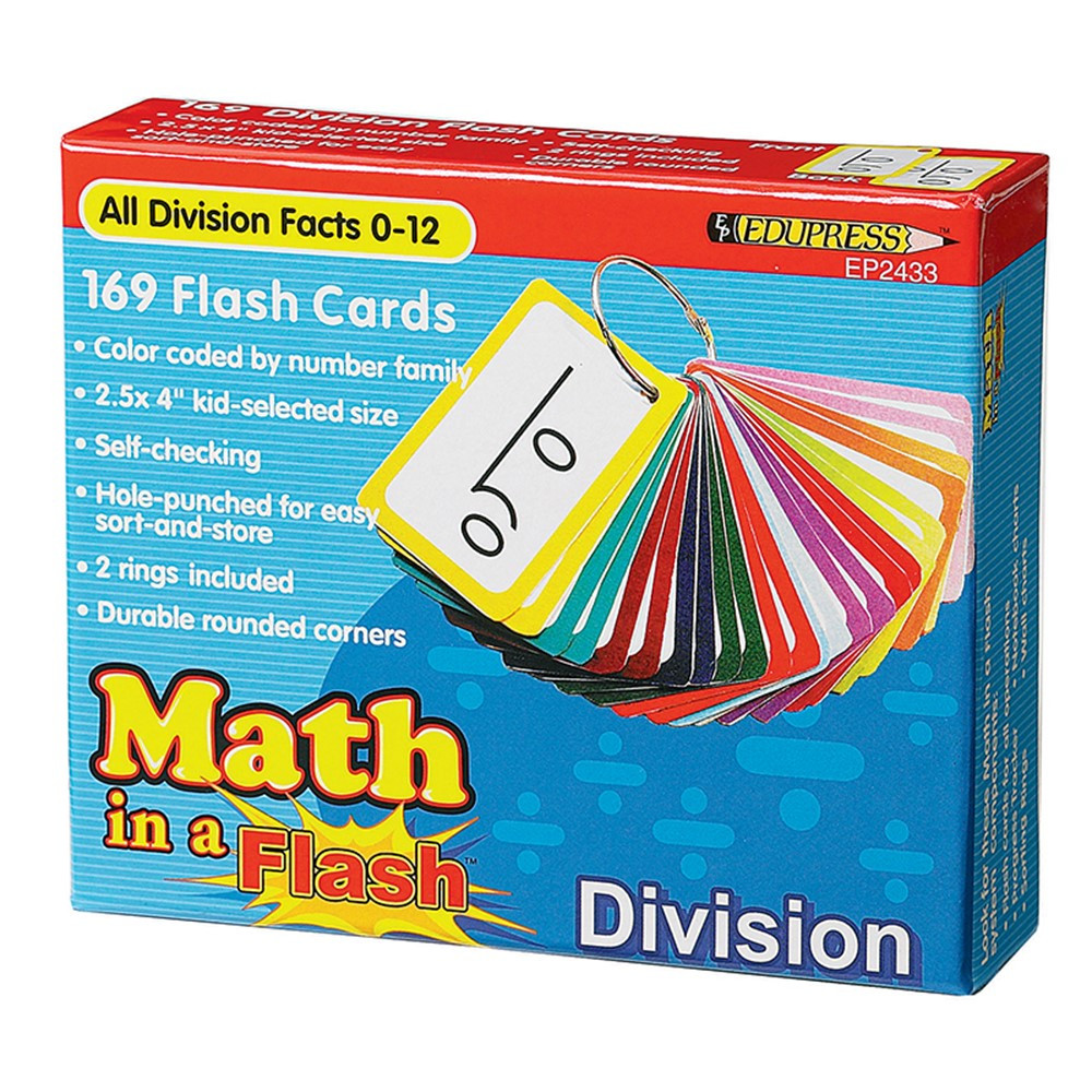 EP-2433 - Math In A Flash Division Flash Card in Flash Cards