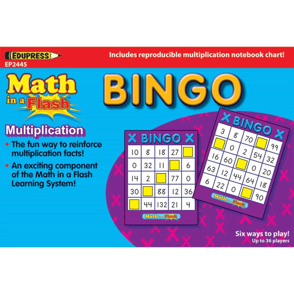 Math Ina Flash Bingo Multiplication - EP-2445 | Edupress | Games