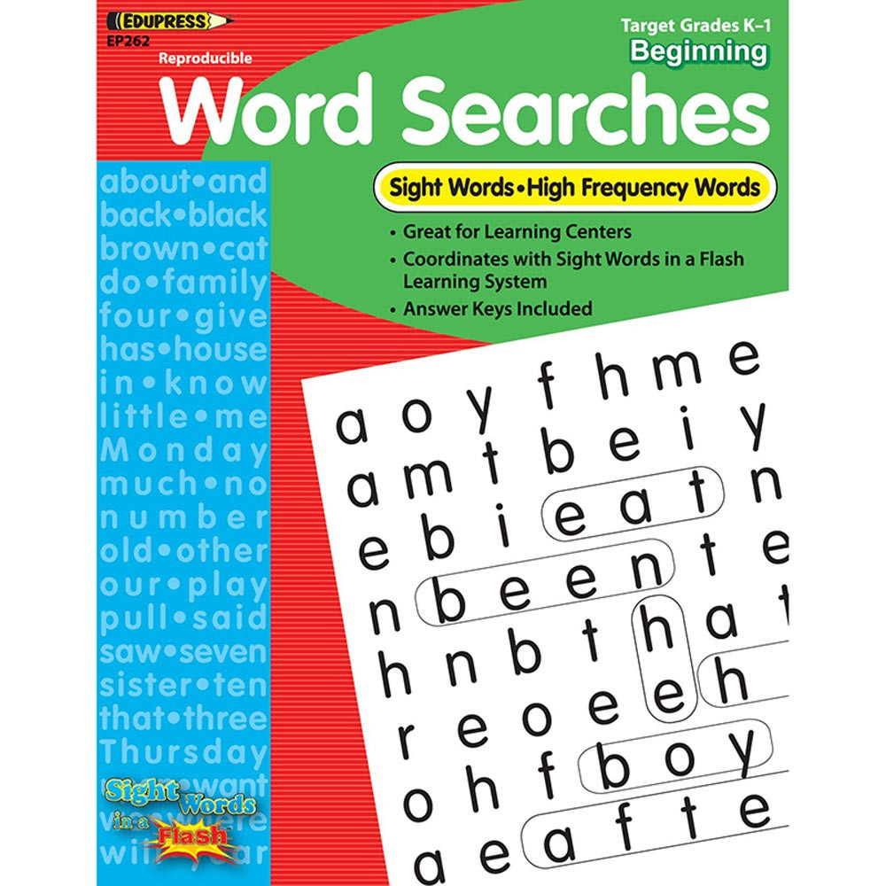 EP-262 - Sight Word Searches Beginning Gr K-1 in Sight Words