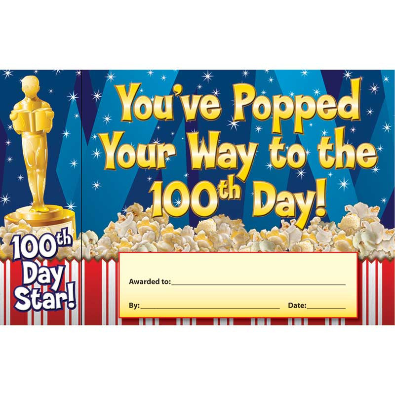 EP-3027 - Happy 100Th Day Bookmark Award in Bookmarks