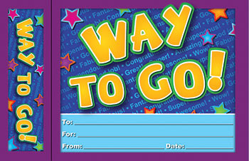 EP-3029 - Way To Go Bookmark Award in Bookmarks