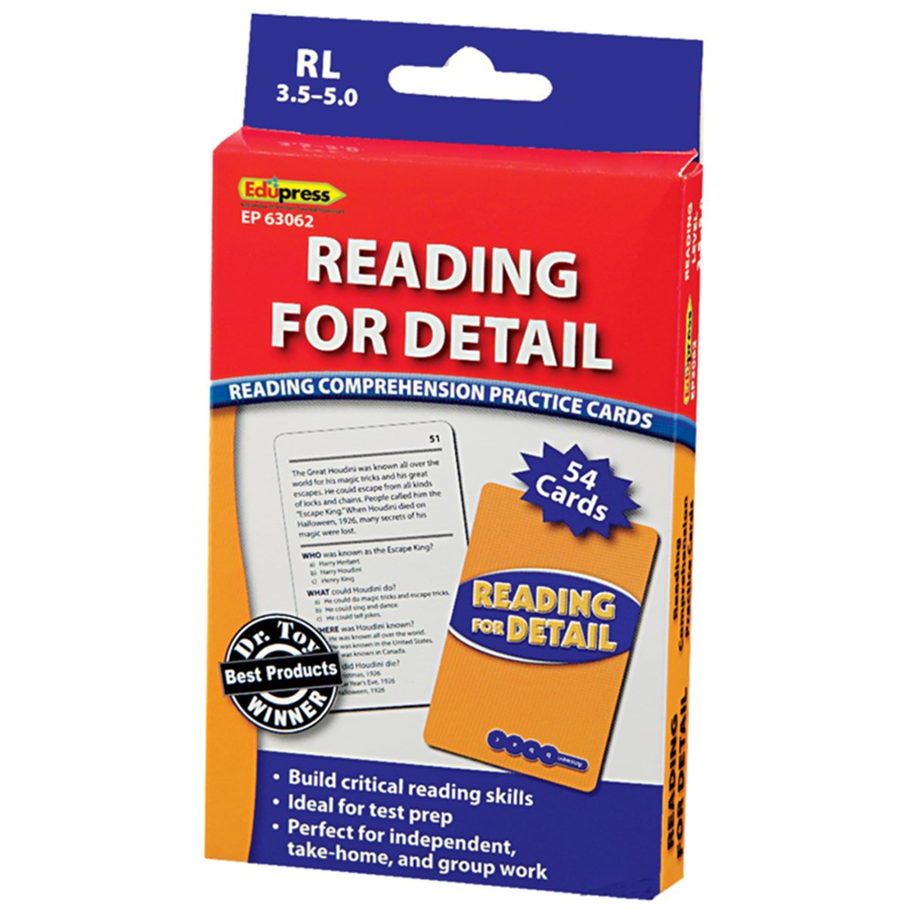 EP-3062 - Reading For Detail - 3.5-5.0 in Comprehension