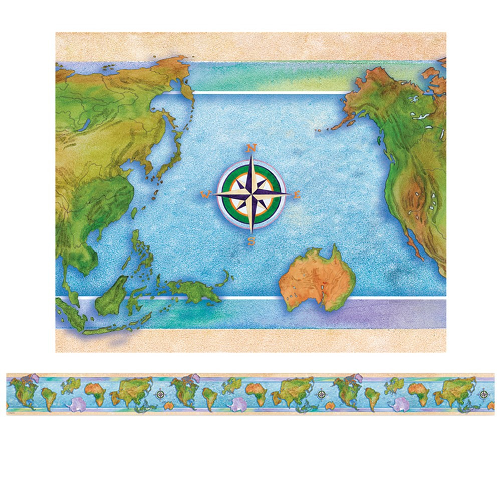EP-3304 - Border World Continents 12/Pk in Border/trimmer