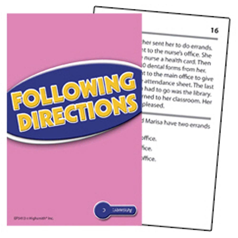 EP-3412 - Following Directions Practice Cards Reading Level 2.0-3.5 in Following Directions