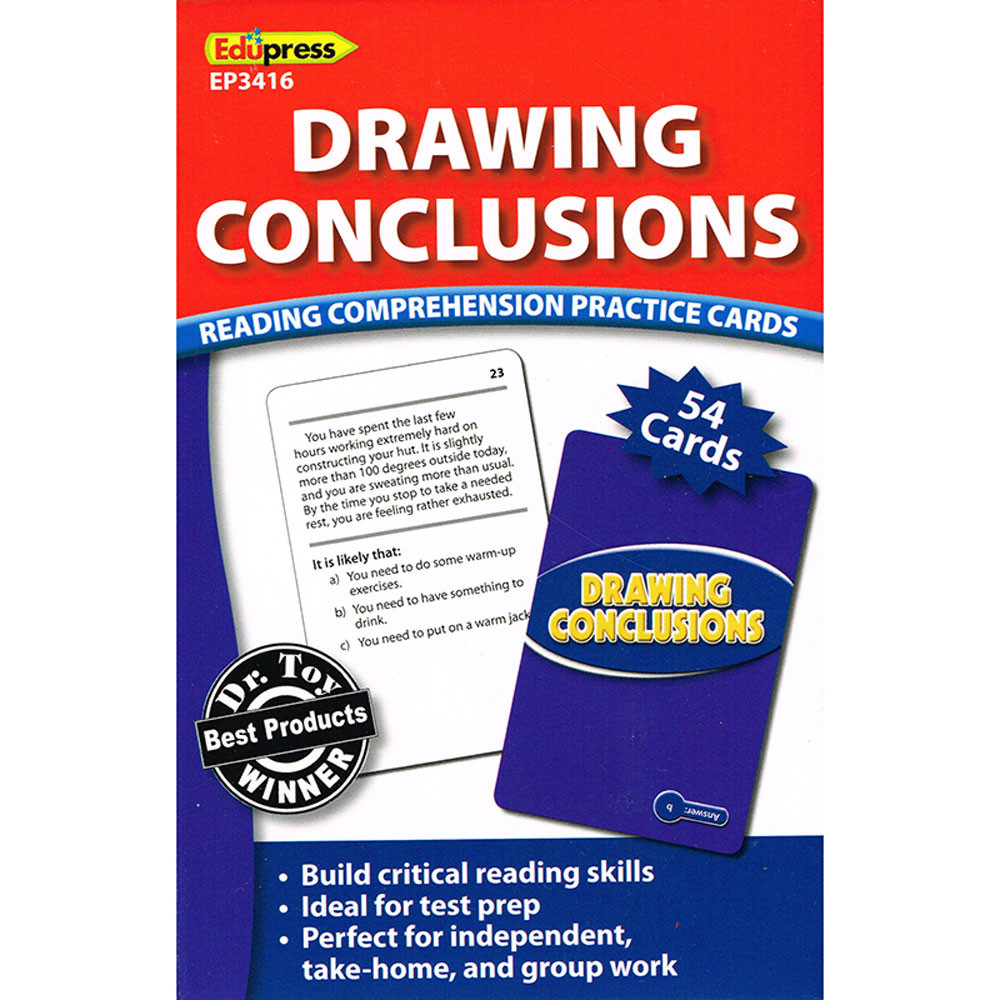 - Drawing Conclusions Reading Comprehension Practice Cards Blue - EP