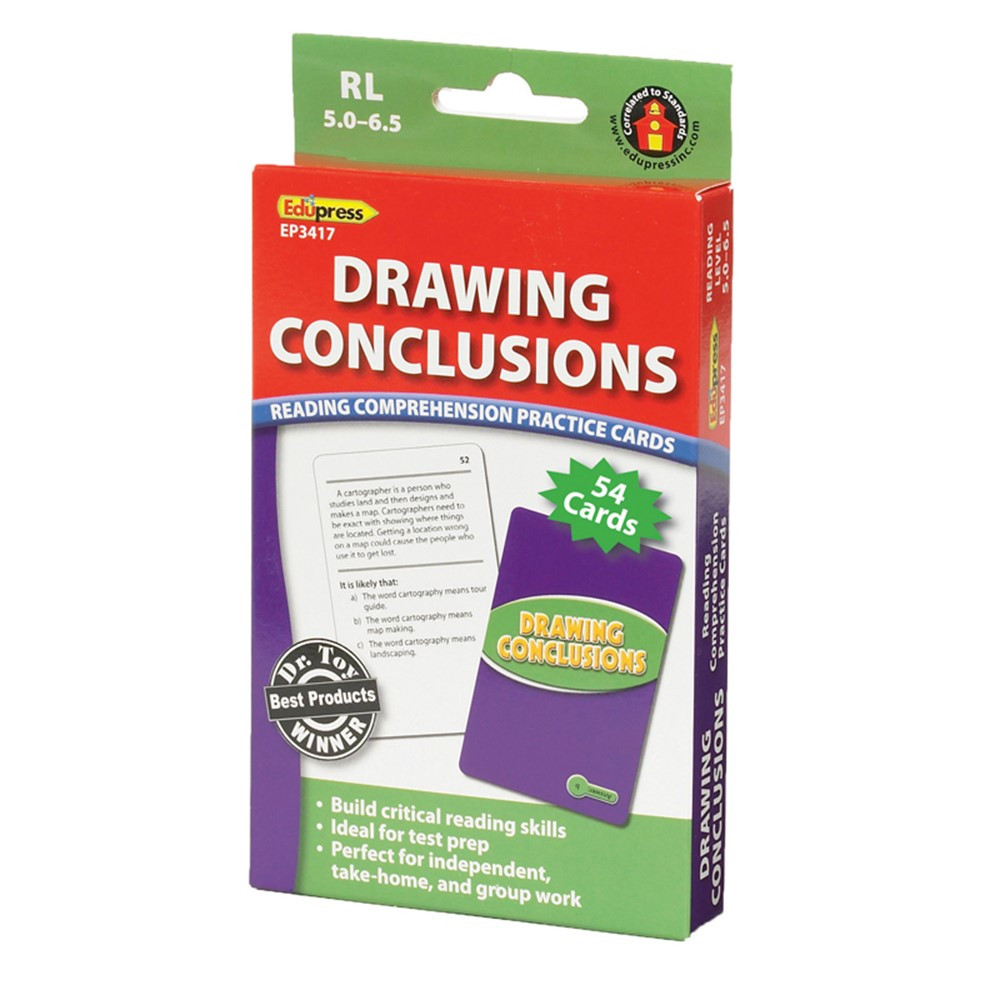 EP-3417 - Drawing Conclusions Cards Reading Levels 5.0-6.5 in Comprehension