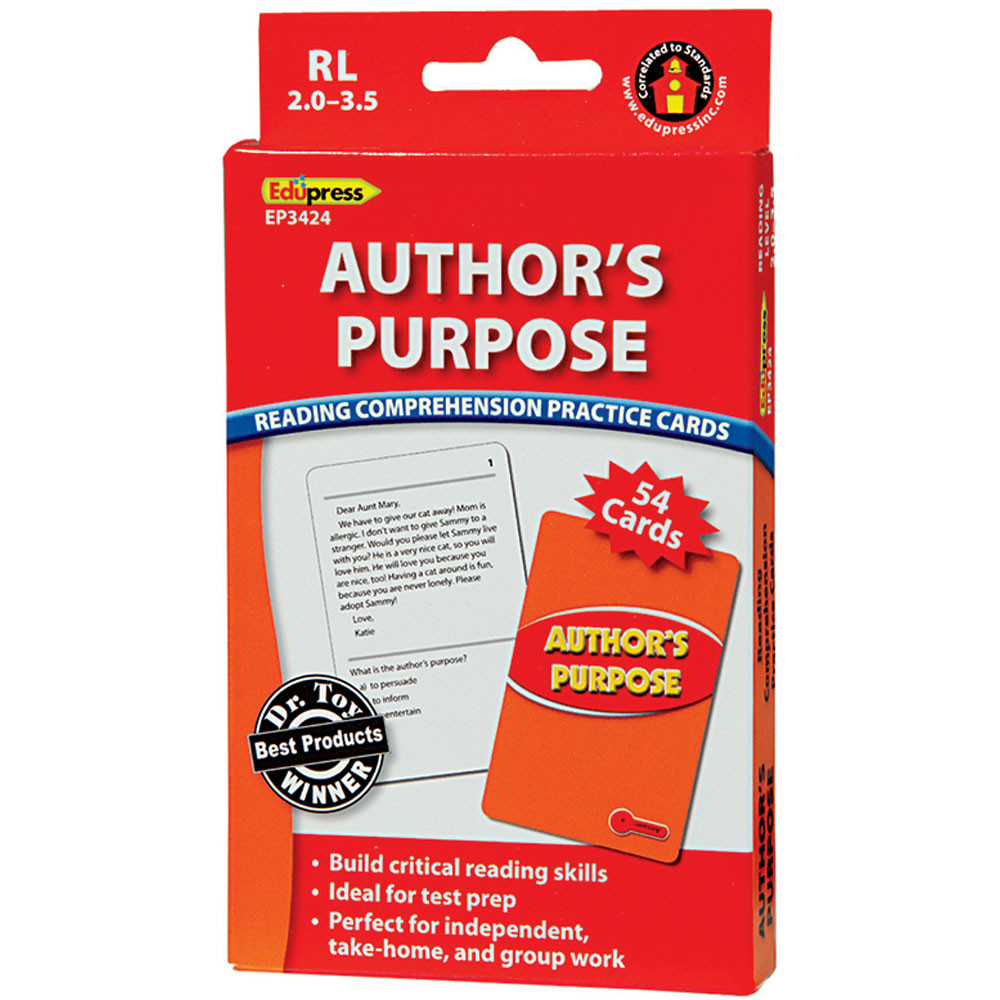 EP-3424 - Authors Purpose Rcpc Red Level in Comprehension