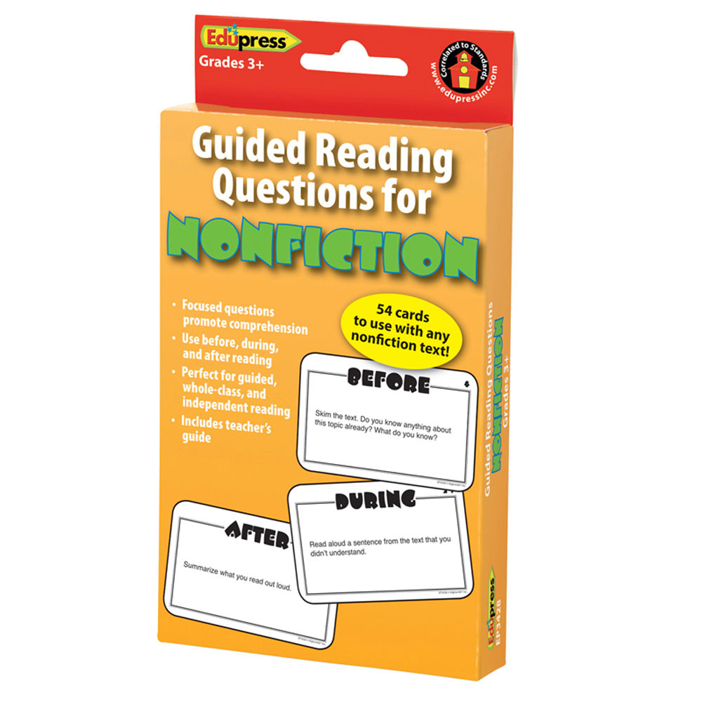 EP-3428 - Guided Reading Question Cards Nonfiction in Reading Skills