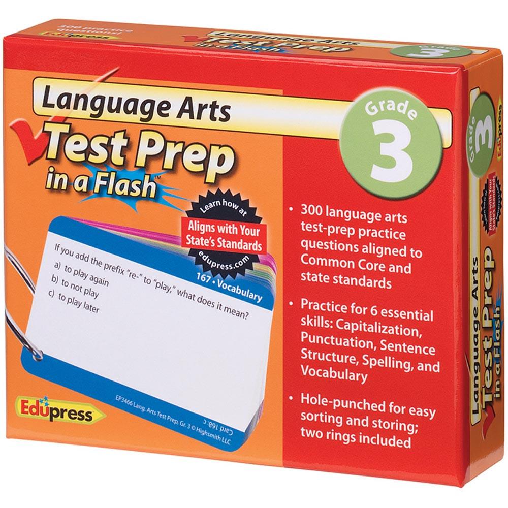 EP-3466 - Language Arts Gr 3 Test Prep In A Flash in Language Arts