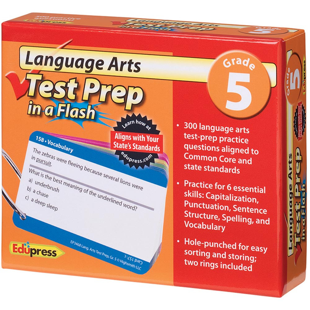 EP-3468 - Language Arts Gr 5 Test Prep In A Flash in Language Arts