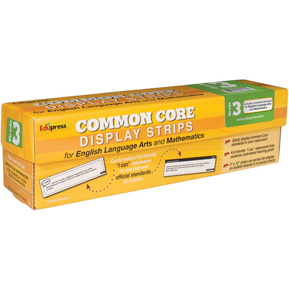 EP-3586 - Common Core State Standards Display Strips Gr 3 in Pocket Charts