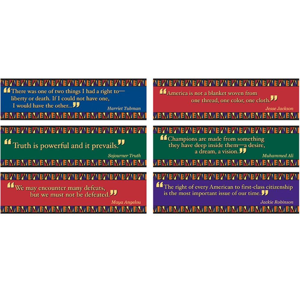 EP-3619 - Black American Quotes Mini Bulletin Board Set in Social Studies
