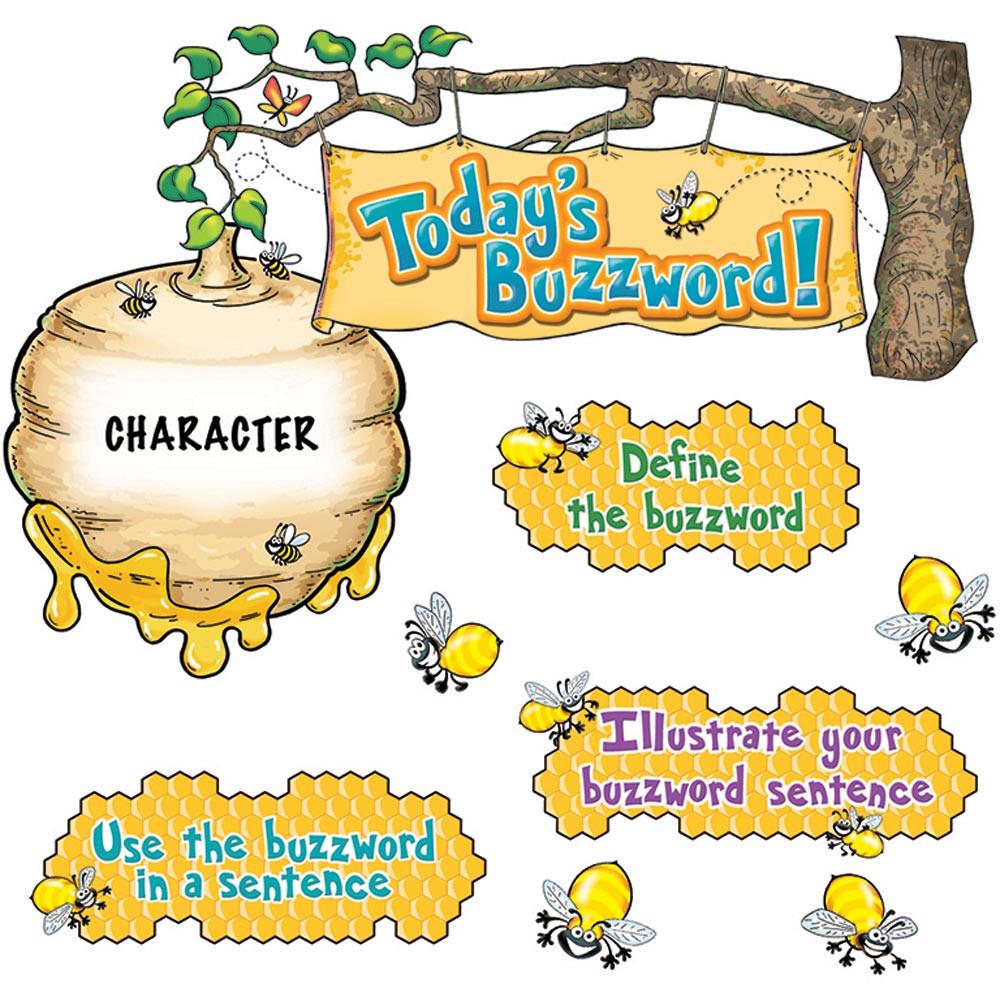 EP-3642 - Our Daily Buzzword Mini Bulletin Board Set in Language Arts