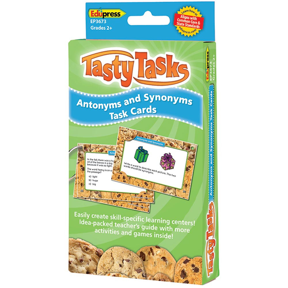 EP-3673 - Antonyms And Synonyms Language Arts Tasty Task Cards in Phonics