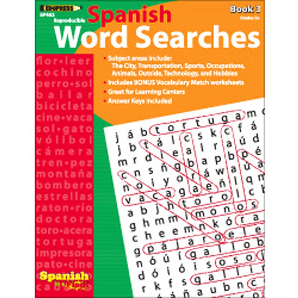EP-462 - Spanish In A Flash Word Searches 3 in Language Arts