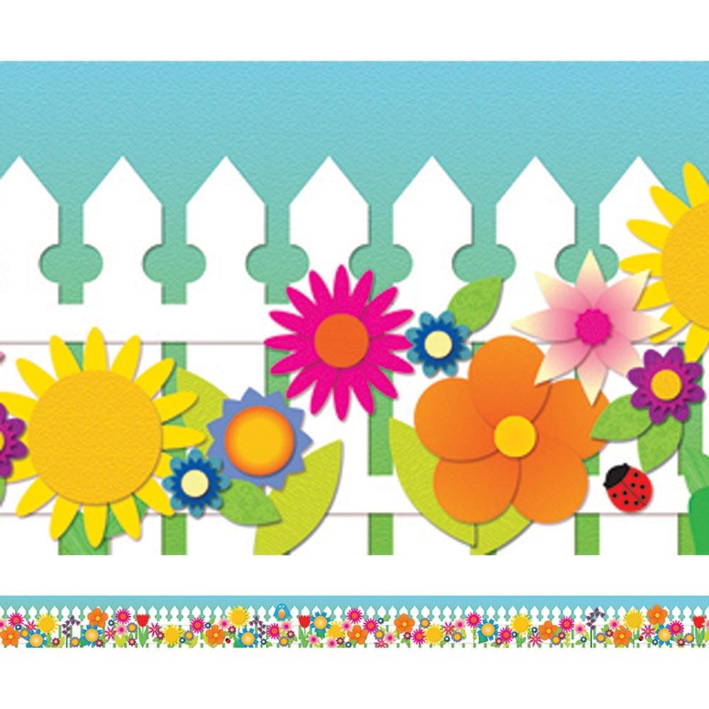 Classroom Decor Borders ~ Spring garden spotlight border ep r edupress