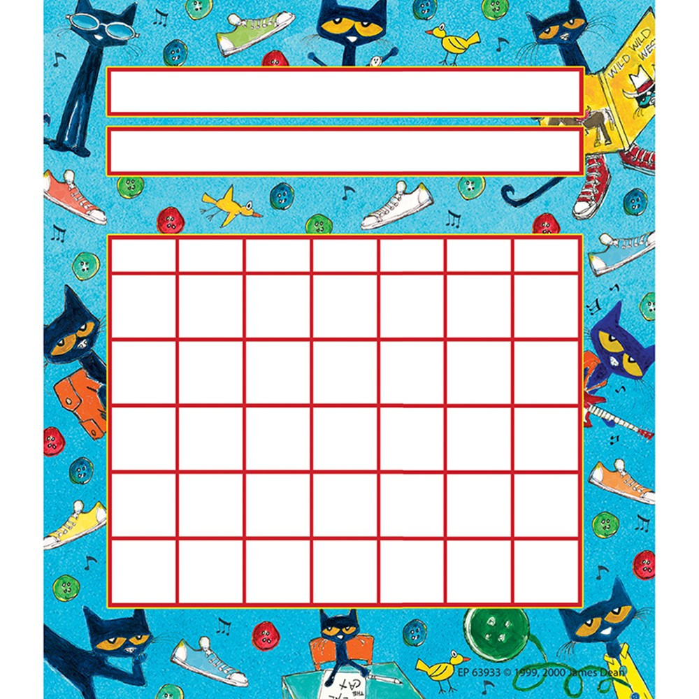 EP-63933 - Pete The Cat Incentive Charts in Incentive Charts