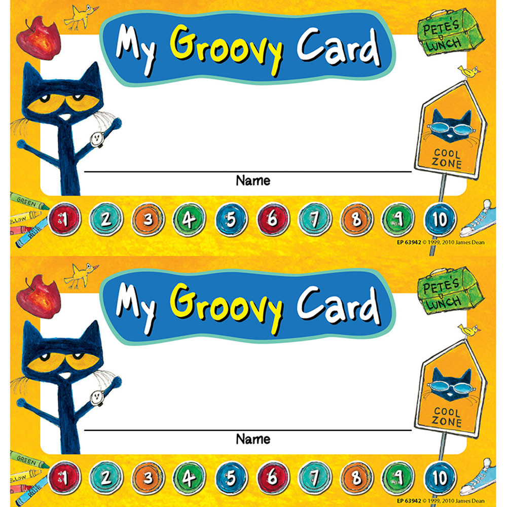 EP-63942 - Pete The Cat My Groovy Punch Cards in Tickets