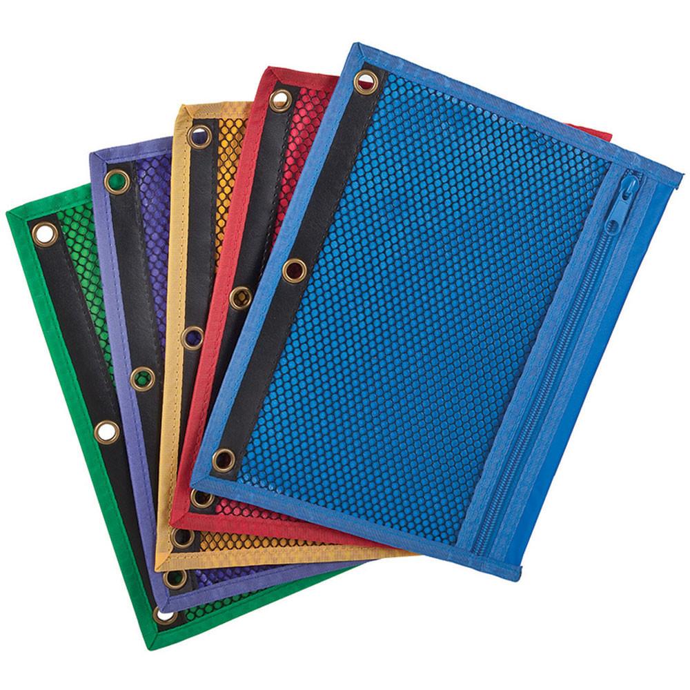 ESS68500 - Oxford Zipper Mesh Binder Pockets 10 1/2 X 7 1/2 in Folders
