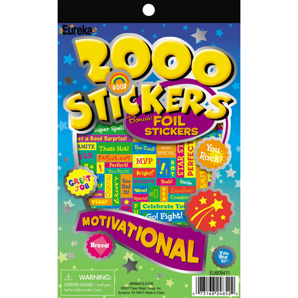EU-609411 - 2000 Motivational Sticker Book in Motivational