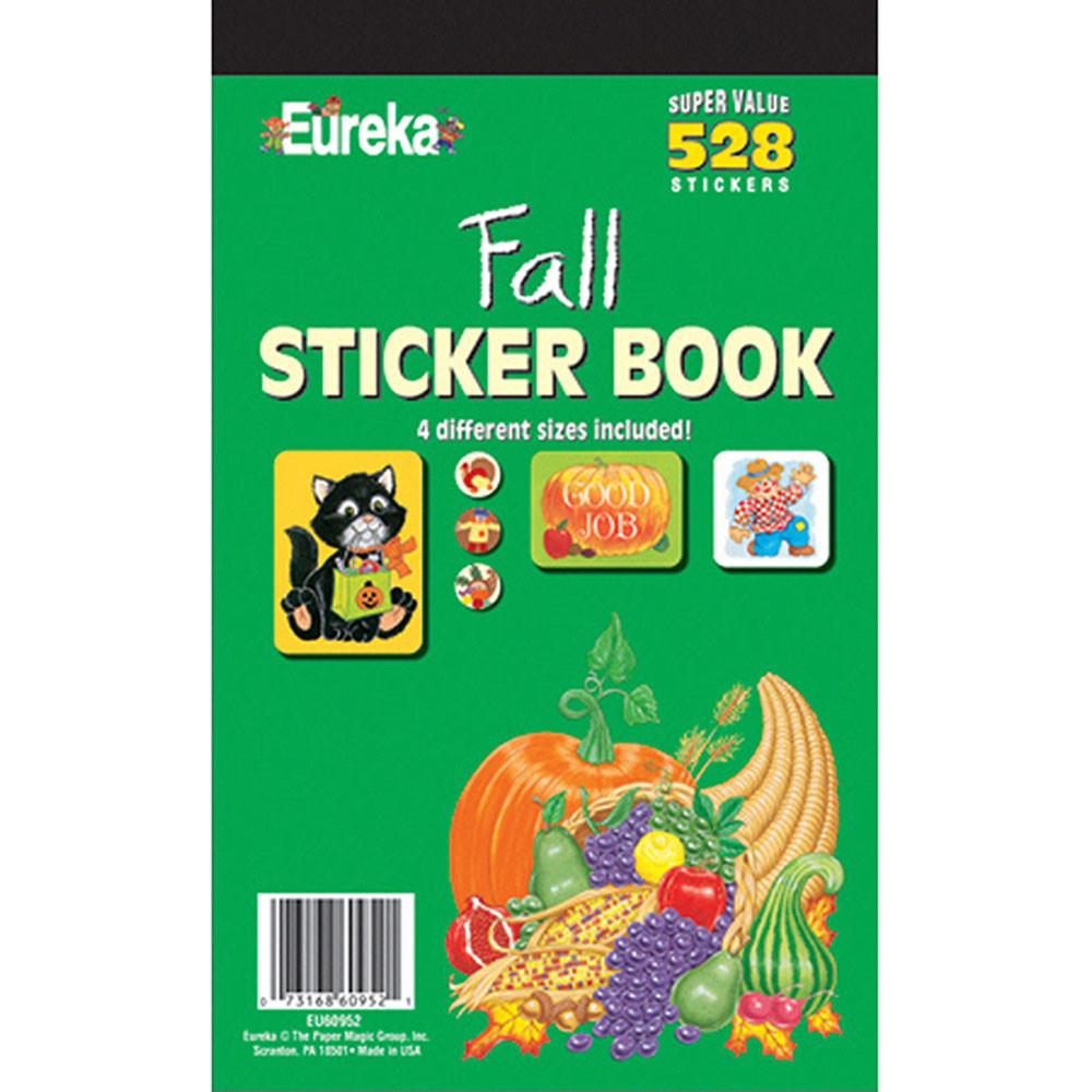 EU-60952 - Sticker Book Fall 528/Pk in Holiday/seasonal