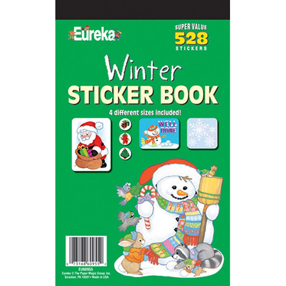 EU-60955 - Sticker Book Winter 528/Pk in Holiday/seasonal