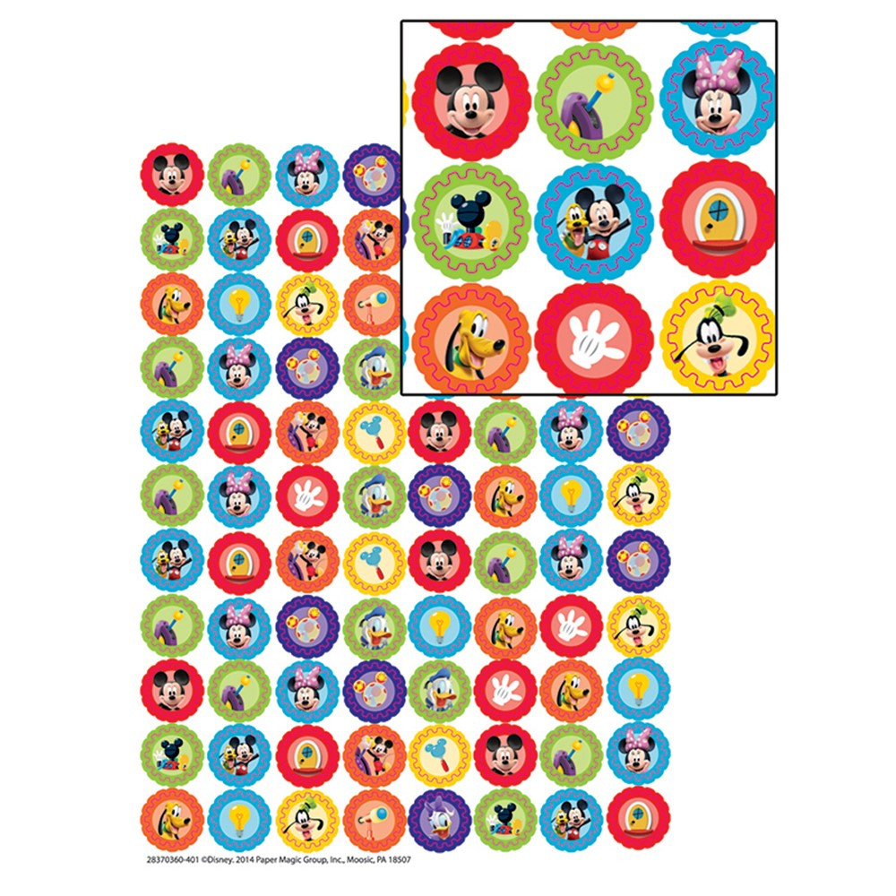 EU-621002 - Mickey Mouse Clubhouse Gears Mini Stickers in Stickers