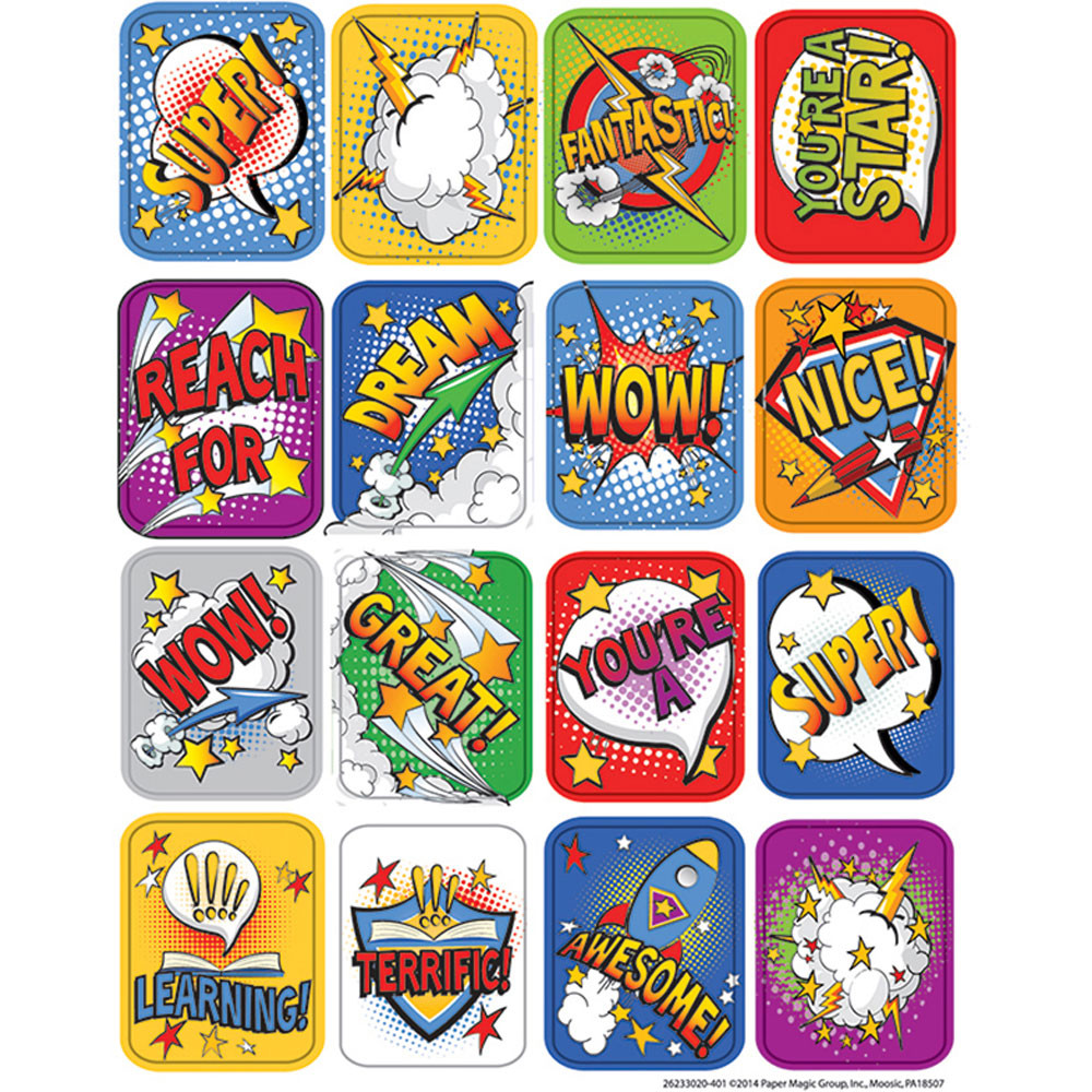 EU-623302 - Super Class 3D Motion Lenticular Stickers in Stickers