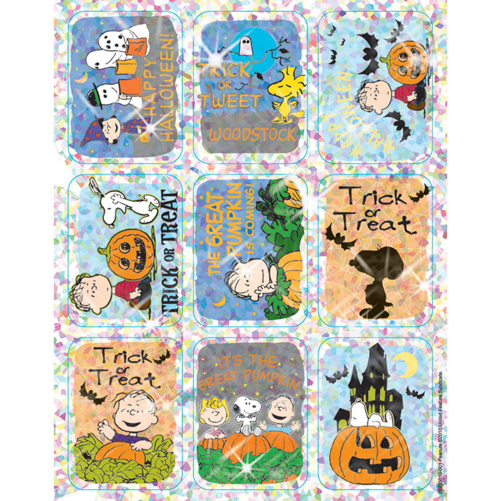 EU-623501 - Peanuts Halloween Sparkle Stickers in Holiday/seasonal